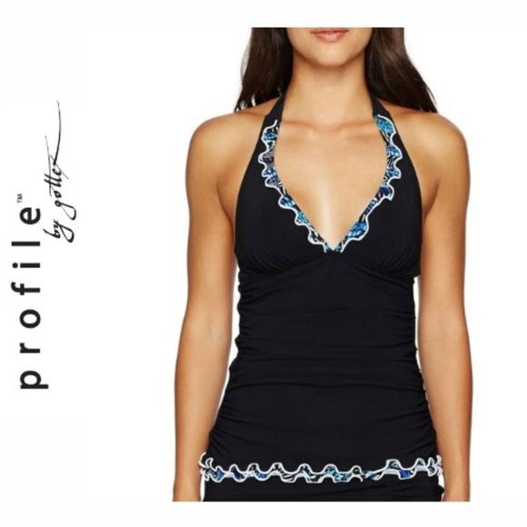 ba0dfc6f901f0 Profile By Gottex Swim | Blue Nile Halter Tankini Top | Poshmark